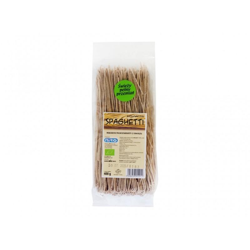 BIO Makaron pełnoziar spaghetti 400g NIRO