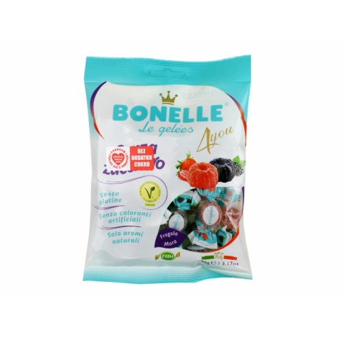 Żelki o smaku jeżyny i truskawki- Bonelle 90g