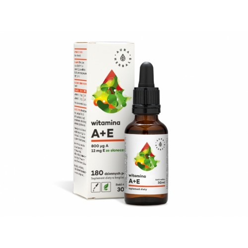 Witamina A+E Forte krople 30ml Aura Herbals