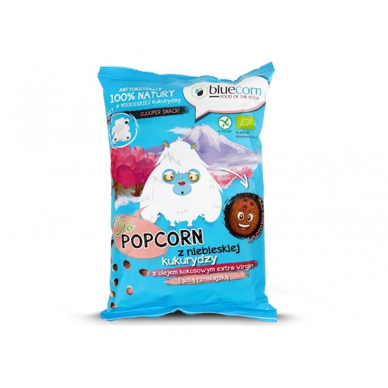 BIO Popcorn z ol. kokos. i solą him. 50g bluecorn
