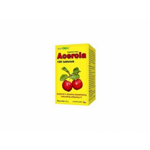 Acerola Sanbios - naturalna witamina C - 100 tab
