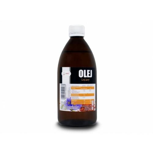 Olej lniany zimnotłoczony 500 ml