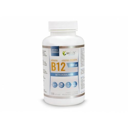 Witamina B12 metylokobolamina 1000ug -120 kap WISH