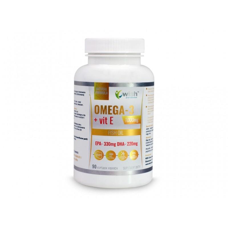 Omega 3 Fort Gold DHA220+vit E - 90 kapsułek WISH