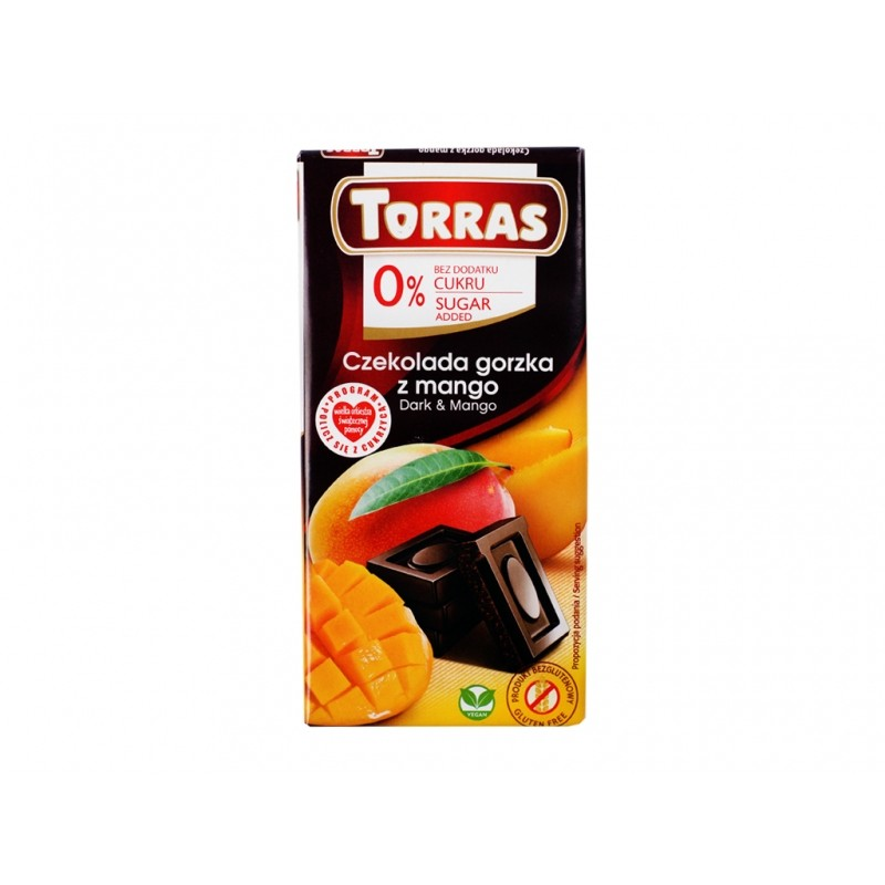 Czekolada gorzka z mango 75g Torras