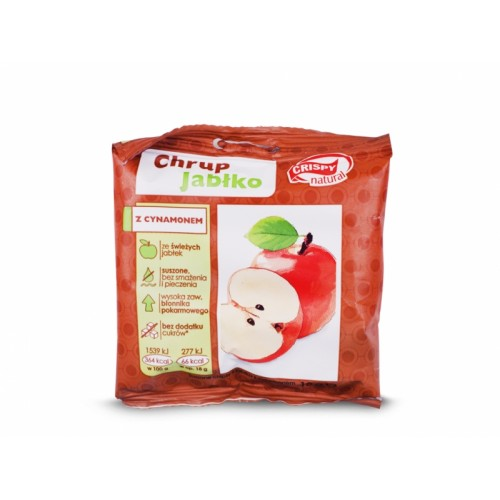 Jabłko z cynamonem plasterki 18g CRISPY